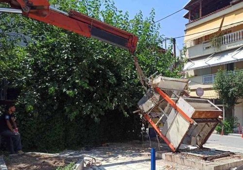 Απομάκρυνση εγκαταλελειμμένων περιπτέρων από το κέντρο της πόλης