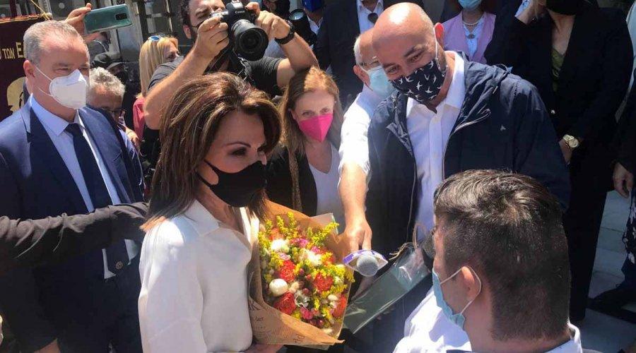 Στην Πιερία η πρόεδρος της Επιτροπής «Ελλάδα 2021» Γιάννα Αγγελοπούλου
